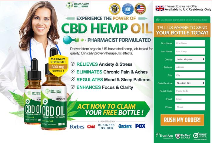 Bionic Bliss Organic CBD Oil review