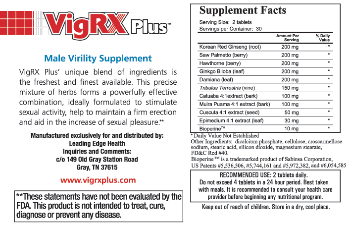 vigrxplus ingredients