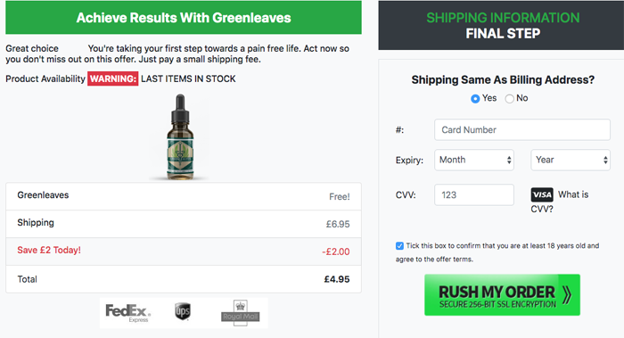 Green Leaves CBD Oil Trial Price