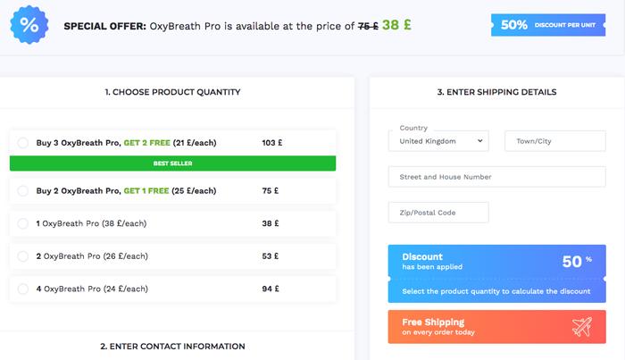 buy OxyBreath Pro in uk